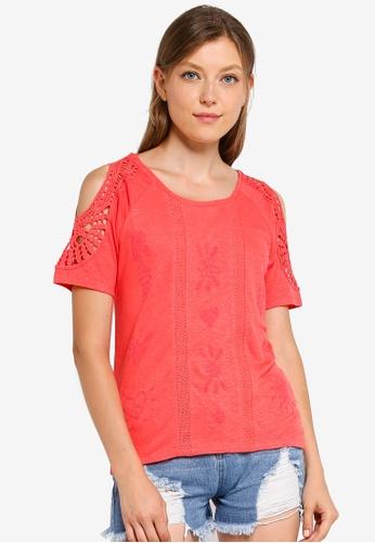 Desigual 紅色 Sweet Summer T-襯衫 58419AAC6BB080GS_1