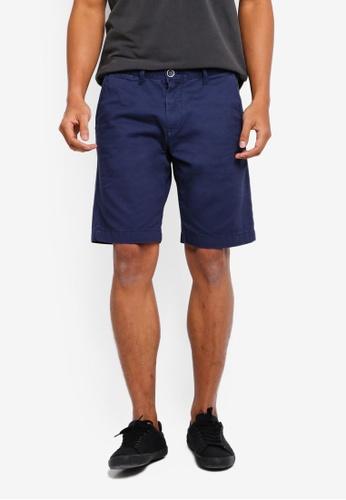OVS 海軍藍色 休閒短褲 75895AA98F7711GS_1