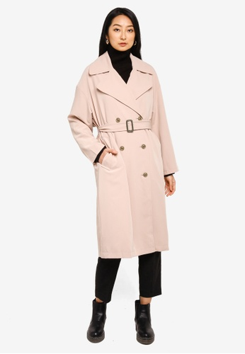 niko and ... pink Classic Belted Trench Coat FC161AA7AF9DE5GS_1