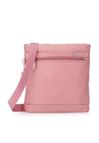 Hedgren pink Hedgren Women Leonce Small Vertical Crossover RFID Bag Powder Pink - 0.86L 6DF50AC335EEC0GS_1