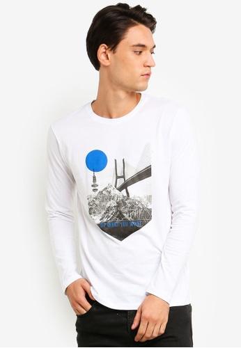 ESPRIT 白色 長袖T恤 2C9D1AA4D00F6AGS_1