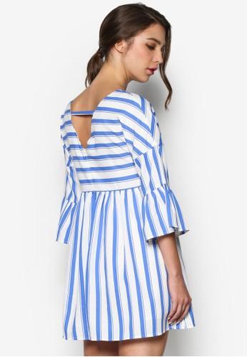 垂肩條紋娃esprit品牌介绍娃洋裝, 韓系時尚, 梳妝
