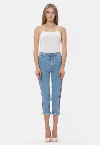 MKY Clothing blue MKY Nice Ribbon Boyfriend Jeans 7C3FAAAF0DEABAGS_1
