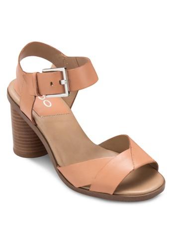 Ponticino 粗跟涼鞋, 女鞋, zalora 台灣細帶高跟鞋