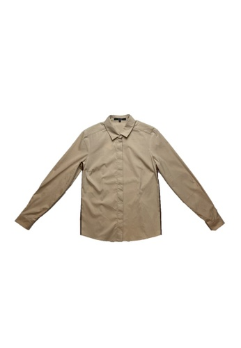 Gucci brown PRE-LOVED GUCCI COTTON BLEND LONG SLEEVE SHIRT-BROWN EA24AAAA44192CGS_1
