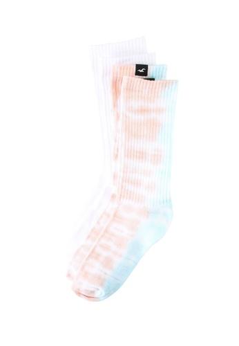 Hollister white 2-Packs Crew Socks E35D6AA91FB914GS_1