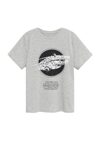 MANGO KIDS grey Star Wars Cotton T-Shirt FDD84KA40C105BGS_1