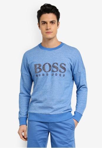 BOSS blue Westlake Sweatshirt - Boss Casual B22D1AA9053887GS_1