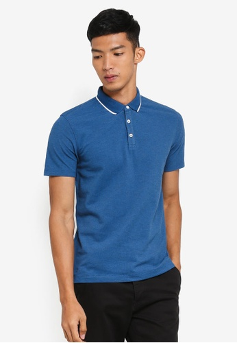 G2000 blue Tipping Collar Polo AD27FAAF68BB51GS_1