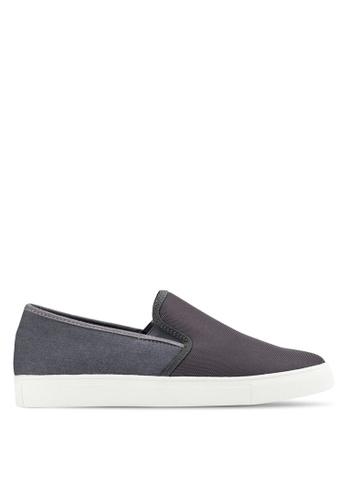 UniqTee grey Neoprene Slip-On Sneakers UN097SH86IMZMY_1