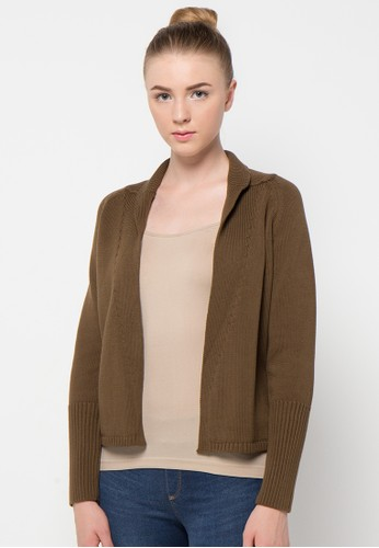 Noir Sur Blanc brown Ladies Long Cardigan NO321AA88QYDID_1