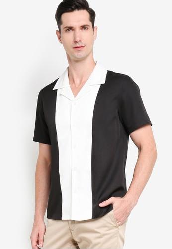 ZALORA BASICS 多色 Camp Collar Front Panel Shirt F4802AABD5962DGS_1
