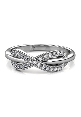 Her Jewellery silver Trist Ring (White Gold) - Made with premium grade crystals from Austria 89571AC777EC0AGS_1