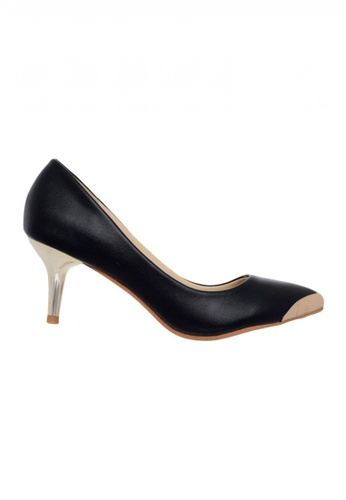 Celsius black Celsius - Pointy Cap Toe Pump 158-23G Women (Black) 3FD84SH68497A0GS_1