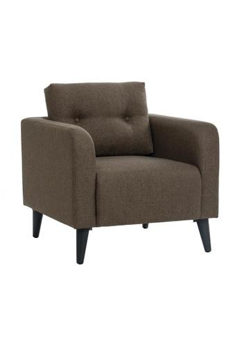 DoYoung brown NAHUM (76cm Chestnut) Fabric Armchair 0161DHLBF3BECCGS_1