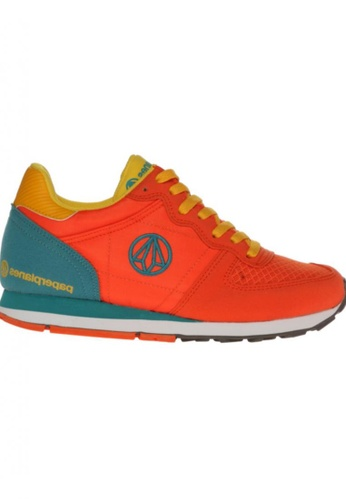 paperplanes orange Paperplanes-1143-1 Fashion Casual Suede Mesh Tall Up Sneakers Shoes US Women Size PA355SH96PMTSG_1