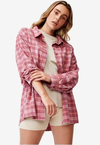 Cotton On red Boyfriend Shirt E255EAA90A7819GS_1