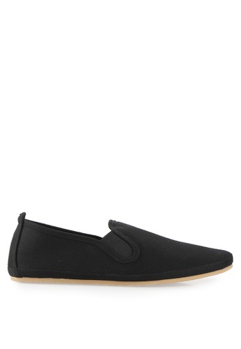 Minarno black Minarno Black Canvas Slip-On ND133 MI641SH30XAVID_1