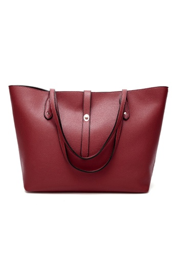 Lara red Two-Piece Set Tote Bag Set With Purse 7B914ACFF74165GS_1
