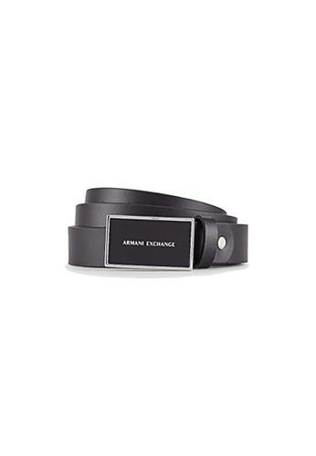 Armani Exchange black AX Armani Exchange Men AX Logo Buckle Belt EF30AACC332210GS_1