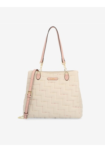 Carlo Rino beige Beige Tickled Pink Cushy Square Shoulder Bag 2C79EAC8A514AFGS_1