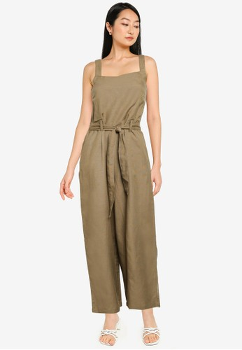 ONLY green Canyon-viva Crop Jumpsuit 68B58AA8A6AB36GS_1