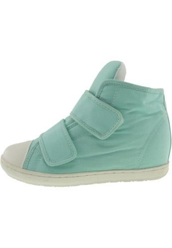 Maxstar 綠色 新款韩国鞋203H-2Band時尚帆布布混合女浅蓝色 US Women Size MA345SH74HBXTW_1