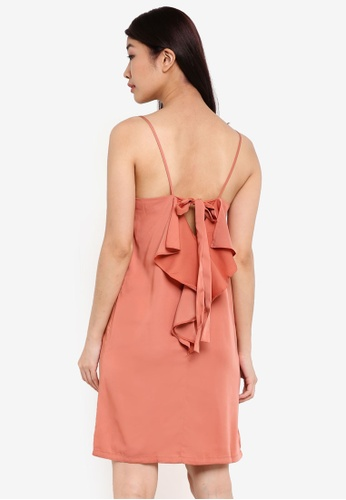 ZALORA pink Ribbon Back Dress D96DEAA5100ED6GS_1