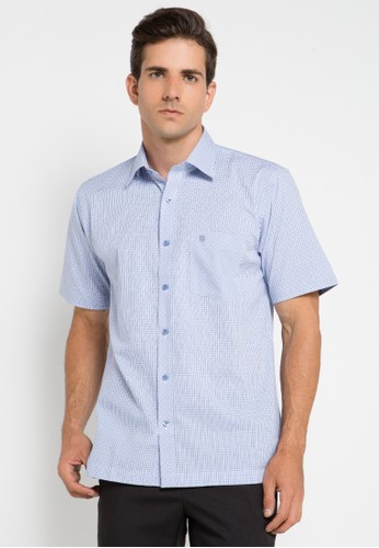 Manhattan blue Shirt Short Sleeve MA642AA0UKDJID_1
