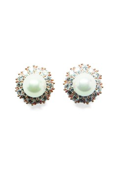 Crystal Earring (with pearl design)