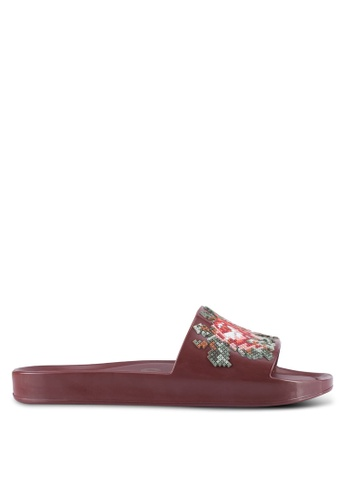 Melissa 紅色 Melissa Beach Slide Flower Ad Sandals ME121SH0RT27MY_1