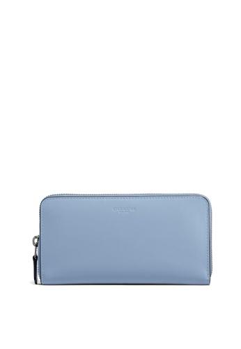 Coach blue Accordion Zip Wallet (cv) D8AF5AC84BD147GS_1