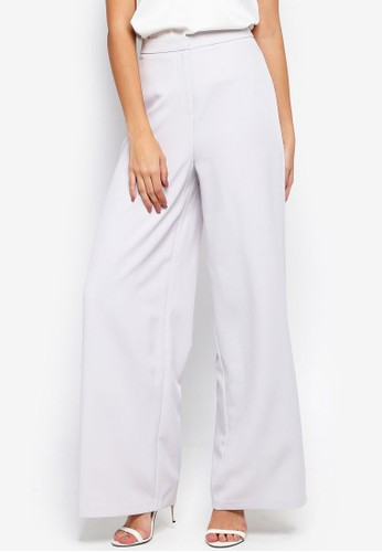 MISSGUIDED grey Core Wide Leg Trousers 69448AA625289EGS_1