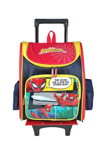 MARVEL navy Marvel Avengers VAE2046R 16 inch Spiderman EVA Detachable Trolley School Bag 93496KCD951111GS_1