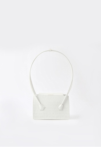 BERACAMY white BERACAMY GÉO Small Tote - Embossed White 4D213ACFAF4946GS_1