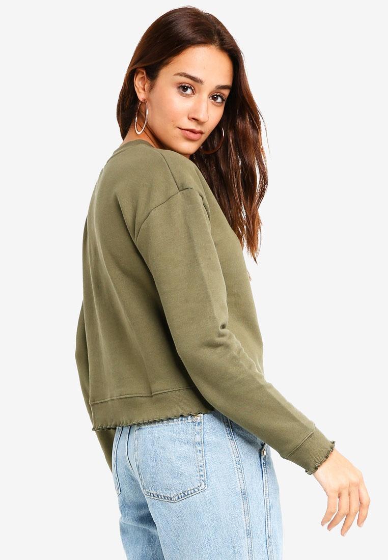 Miss Sweatshirt Hem Dark Lettuce Green Selfridge 6vqwnSx6r4