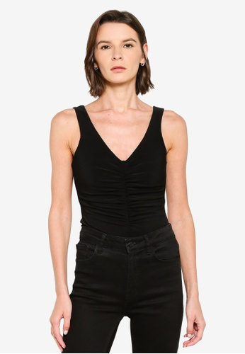 Mango black Ruched Detail Bodysuit D8797AA7779CB1GS_1