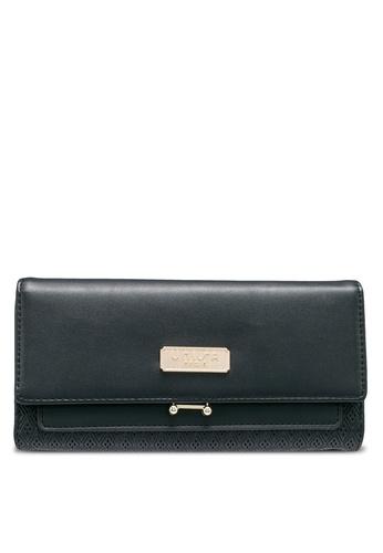 Unisa black Debossed Tri-Fold Ladies Wallet B93B4ACCCF1F9FGS_1