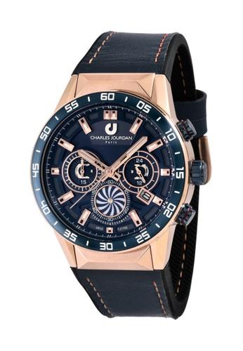 Charles Jourdan gold Charles Jourdan Men Watch Chronograph CJ1102-1582C F556CACF358A29GS_1