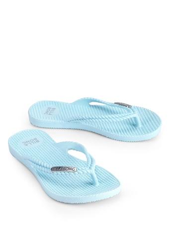 Billabong 藍色 Kicks Thongs 857FFKSC290D42GS_1