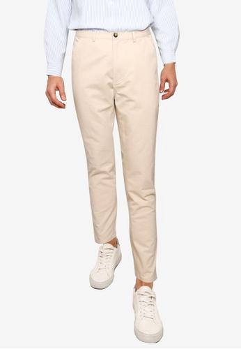 ZALORA BASICS beige Slim Fit Chinos 5BB39AA7C5C537GS_1