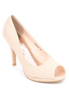 Saffron Peeptoe Heels