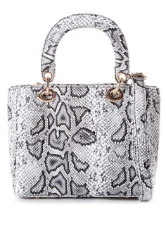 Andie Python Shoulder Bag