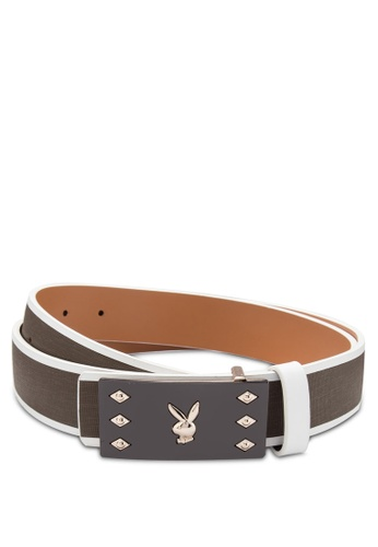 Playboy grey and brown Playboy Belt PL371AC62KQBMY_1
