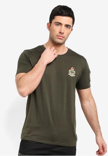 Brave Soul 米褐色 胸圍 Badge T-襯衫 D374BAA024224CGS_1
