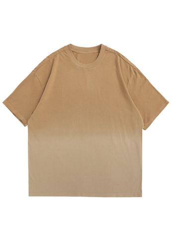 Twenty Eight Shoes Gradient Dip-Dyed Short T-shirt 5329S21 8D290AA60B91FCGS_1