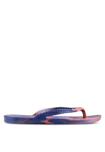 夏季印花夾腳esprit 兼職拖, 女鞋, 鞋