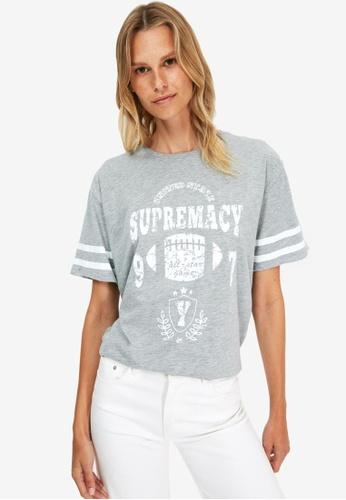 Trendyol grey Graphic T-Shirt BD3E9AA7D513E0GS_1