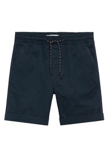 MANGO KIDS blue Elastic Waist Cotton Bermuda Shorts 43696KA85EB902GS_1
