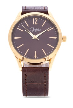c224843020 Cherie Paris brown Adda Women Leather Strap Watch CHR-1839L-IPGBrn  E6E98ACB24D597GS 1
